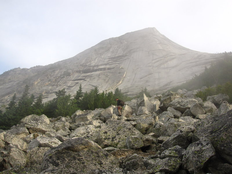 The approach - well marked trail even across the scree field