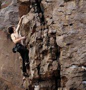 Rock Climbing Photo: Hammered. Fun jug haul
