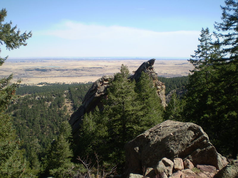 """Rock Climbing Photo: The view looking back towards """"civilization&q..."""