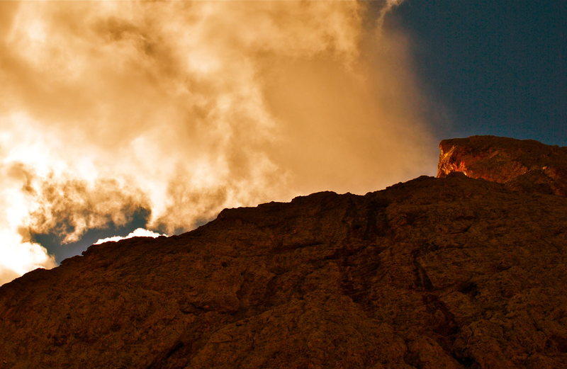 "Rock Climbing Photo: The summit of the ""Thumb"" on the right w..."