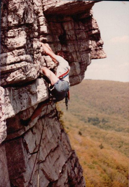 Rock Climbing Photo: Shockley's Ceiling GUNKS 1977