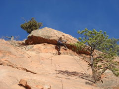 Rock Climbing Photo: 11 y.o. Gabby takes on the roof at the end of her ...
