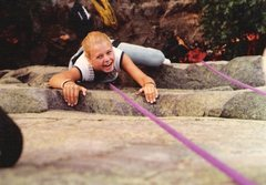 Rock Climbing Photo: The smile says it all for this first timer.