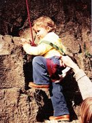 Rock Climbing Photo: Jessica at 22 months old.  28 years ago.