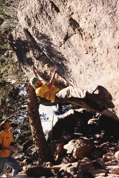 "Rock Climbing Photo: A tough problem called ""Respect Your Elders&q..."