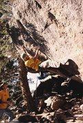 "Rock Climbing Photo: A tough problem called ""Respect Your Elders&q..."