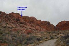 Rock Climbing Photo: Red Riding Hood Wall and Physical Graffiti