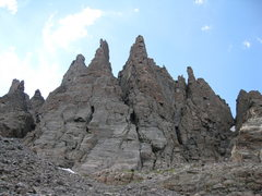 Rock Climbing Photo: The Cathedral Spires in RMNP, left to right: Stile...