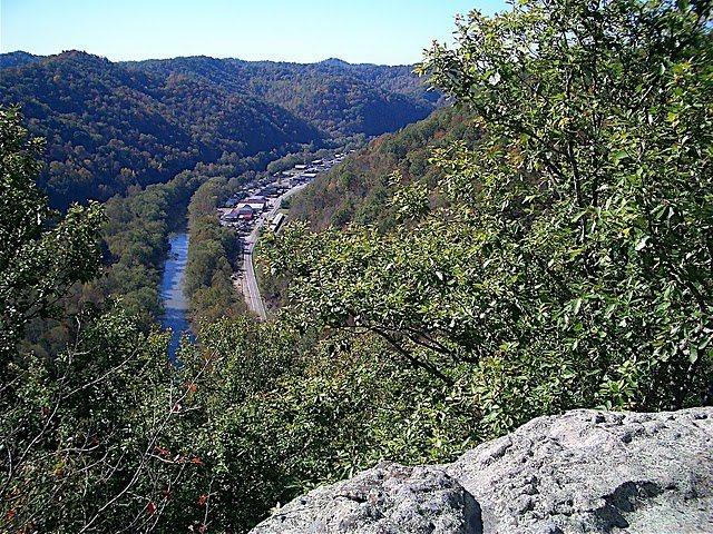 Rock Climbing Photo: Looking down on Prestonsburg