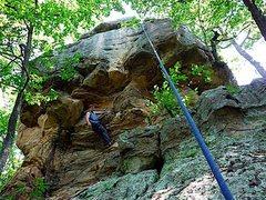 Rock Climbing Photo: TR on the prow, 5.10.
