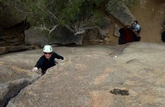 Rock Climbing Photo: scoping out the crux on invisibility lessons