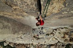 Rock Climbing Photo: andy sending the crux of bird of fire