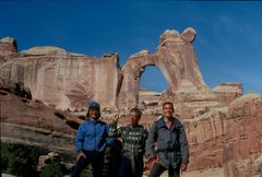 Rock Climbing Photo: 3/4 of the first ascent team, April 3, 1991