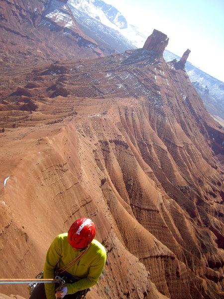 Rock Climbing Photo: Leaving the top of Jah Man