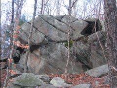 Rock Climbing Photo: Monkey Hut Boulder...a little less clean than it c...