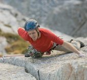 Rock Climbing Photo: Last Pitch.  Not a bad splitter at all! Andrew Bur...