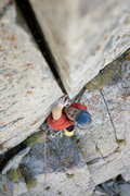 Rock Climbing Photo: Splitter on last pitch Andrew Burr Photo