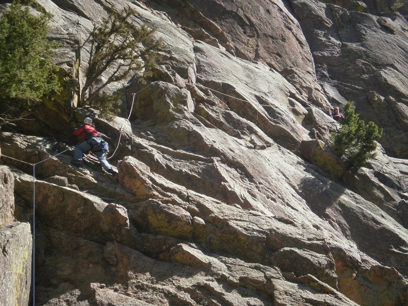 Rock Climbing Photo: Ignominity start.  Not as good as the Break on Thr...