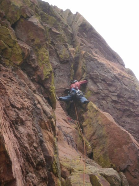 Rock Climbing Photo: Starting the physical crux, not the mental crux, s...