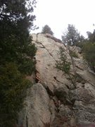 Rock Climbing Photo: Heddie La Rue. You walk right under this on the wa...