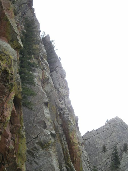 Rock Climbing Photo: Climber on Rebuffat Arete today.  If that is you (...