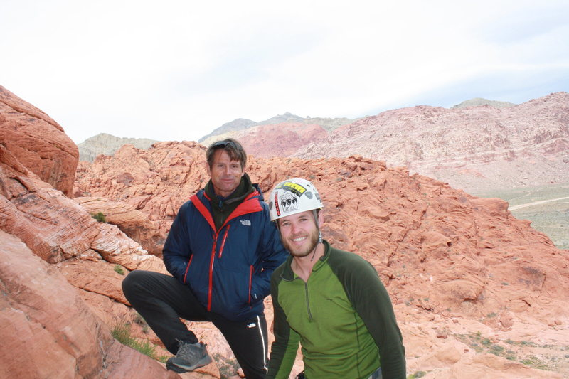 Crack climbing clinic with Peter Croft at the Red Rock Rendevous.