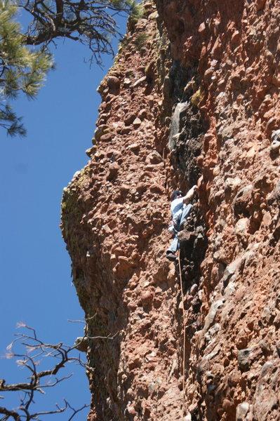 Rock Climbing Photo: Steve in the deck zone!