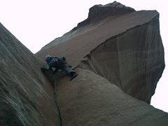 Rock Climbing Photo: Me loving finger locks and hand jams.