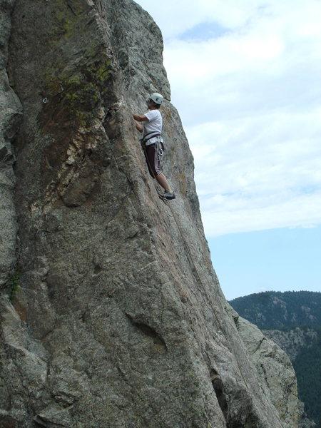 Rock Climbing Photo: Lin Murphy leading, 7-9-10.
