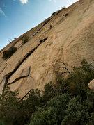 Rock Climbing Photo: Doug starts off on Pitch 2.