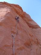 Rock Climbing Photo: Leading pitch 1 before the pendulum