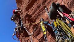 Rock Climbing Photo: Joe starting pitch 4