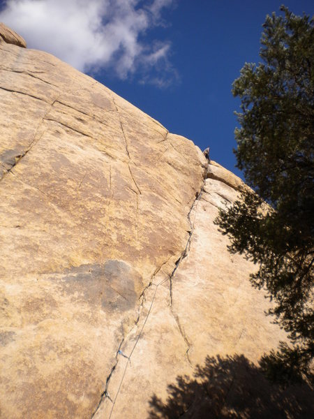 Illusion Dweller (5.10a/b) in Joshua Tree, CA