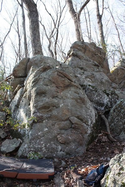 Rock Climbing Photo: Smear!