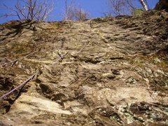 Rock Climbing Photo: snakeskin slab rumney