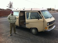 Rock Climbing Photo: Justin and his hippie van getting ready to fire of...