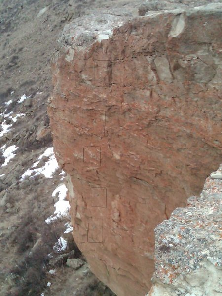 5 bolted anchors of Sentinel Butte