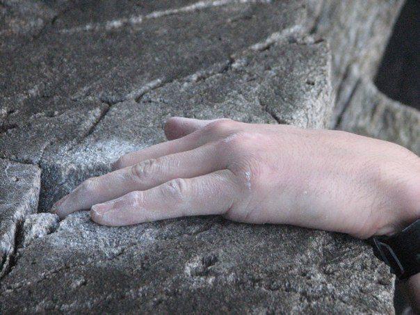 Rock Climbing Photo: finga jam