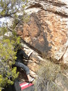 Rock Climbing Photo: Fun easy climb on positive crimps.