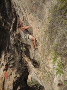 Rock Climbing Photo: Heidi Kloos powering through the continuous 3rd pi...