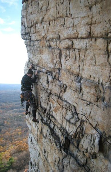 Rock Climbing Photo: im not going to lie - i led this though a friends ...