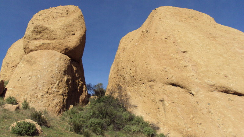 Rock Climbing Photo: Looking into Texas Canyon from the south, on the a...