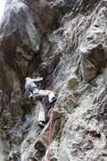 Rock Climbing Photo: Mike approaching the steep middle section on The C...