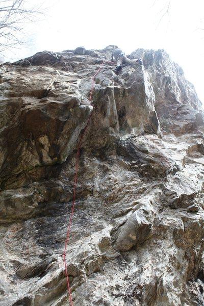 Rock Climbing Photo: Cruising on The Chopping Block 5.12b