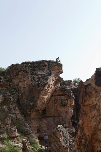 Rock Climbing Photo: Sitting at the top