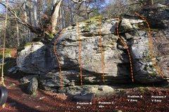 Rock Climbing Photo: East Block Left Topo