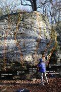 Rock Climbing Photo: West Block Right Topo
