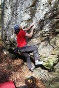 Rock Climbing Photo: The Pinch on Too Hard Too High, V5+