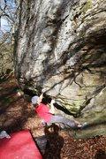 Rock Climbing Photo: The start of Too Hard Too High, V5+