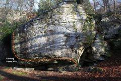 Rock Climbing Photo: Getting Lippy Topo